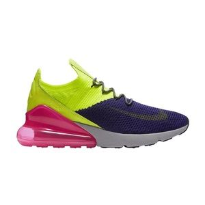 Nike Air Max 270 Flyknit Shoes Volt AO1023-501